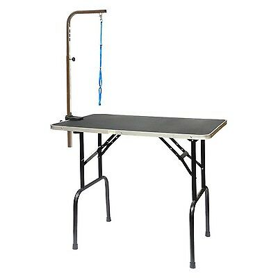 Go Pet Club GT-103 42-Inch Pet Dog Grooming Table with Arm Black New