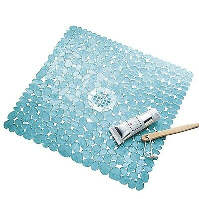 InterDesign Pebblz Non-Slip Suction Bath Mat for Shower Bathtub - Square ... New