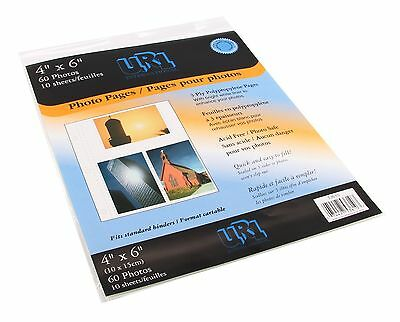 Pinnacle Album Refill Pages for 4-Inch-by-6-Inch Photos New