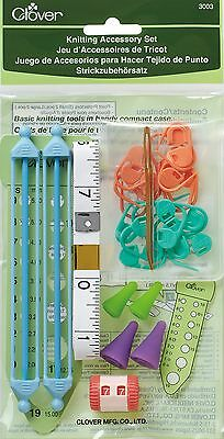 Clover Knit Mate Knitting Accessories Set New