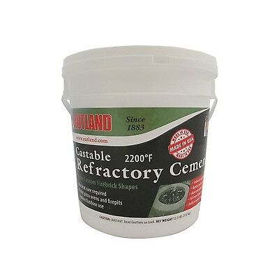 Rutland Castable Refractory Cement 12.5-Pound New