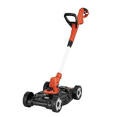 BLACK + DECKER MTE912 12-Inch Electric 3-in-1 Trimmer/Edger and Mower 6.5... New