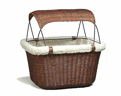 Solvit 62331 Tagalong Wicker Bicycle Basket New