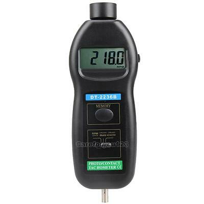 Quality DT2236B 2in1 Digital Laser Photo Tachometer Contact RPM 99,999 Tach C