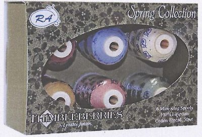 Robison-Anton Thimbleberries 6-Pack Cotton Thread Collection Spring New