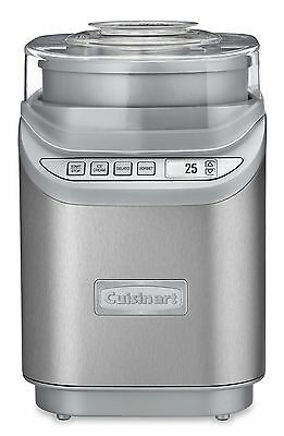 Cuisinart ICE-70C Gelato Ice Cream and Sorbet Maker Silver New