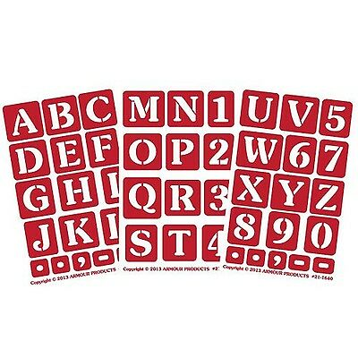 Armour Etch 21-1638 Etch Over N Over Stencil with 1.5-Inch Letters 3 Sheets New