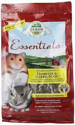 OXBOW 1022090100 Essentials Hamster/Gerbil Food 1-Pound Bag New