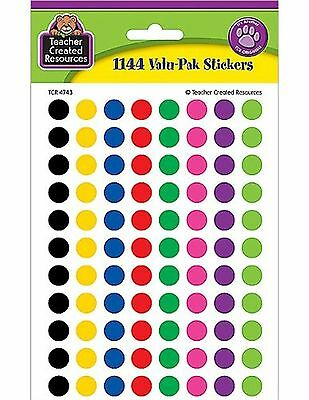 Teacher Created Resources Colorful Circles Mini Stickers Value Pack New