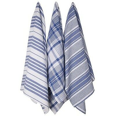 Now Designs Jumbo Pure Kitchen Towel Royal Set of 3 New