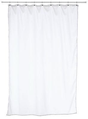 Carnation Home Fashions Fabric Stall Size Shower Curtain Liner White New