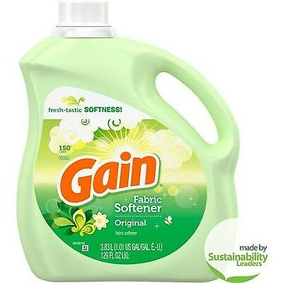 Gain Original Liquid Fabric Softener 150 Loads 3.83l New