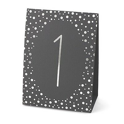 Hortense B. Hewitt Wedding Accessories Polka Dot Table Tents Silver Foil ... New