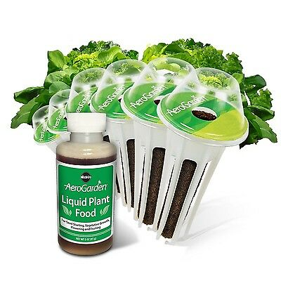 Miracle-Gro AeroGarden Heirloom Salad Greens Seed Pod Kit (6-Pods) New