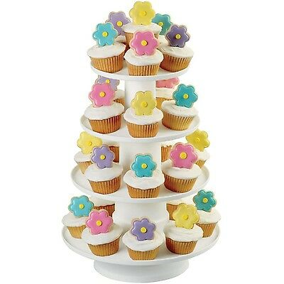 Wilton 307-856 4-Tier Stacked Cupcake and Dessert Tower 4 Tier New