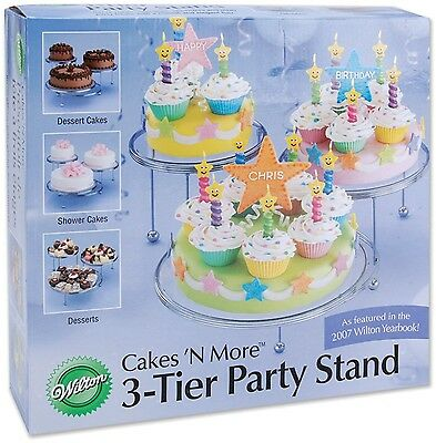 Wilton 307-859 3-Tier Cakes N More Party Stand New