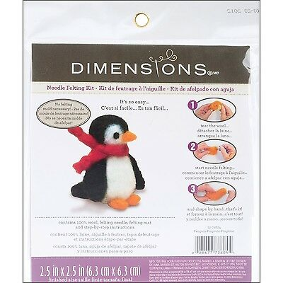 Dimensions Needlecrafts Needle Felted Character Kit Penguin New