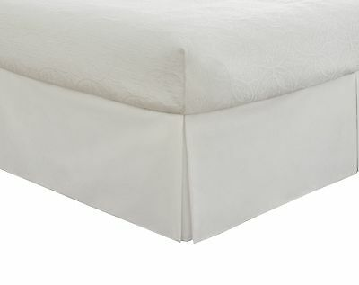 Lux Hotel Bedding Tailored Bedskirt Classic 14 drop length Pleated Stylin... New