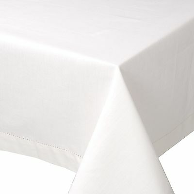 Now Designs 60-Inch by 120-Inch Hemstitch Tablecloth White New