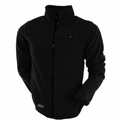 Venture Heated Clothing Men's Battery Heated Fleece Jacket (Black Small) ... New