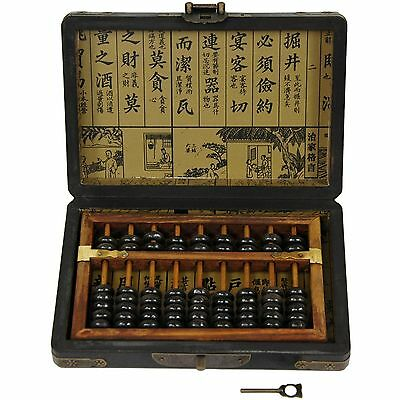 Oriental Furniture Black Lacquer Abacus New