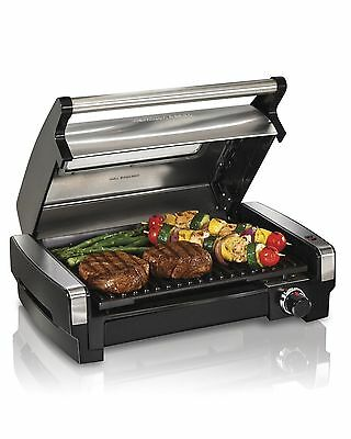 Hamilton-Beach 25361C Stainless Steel Indoor Flavor/Searing Grill New