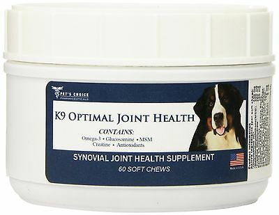 Pet's Choice Phamacuetical K-9 Optimal Joint Soft Chews 60 ct New