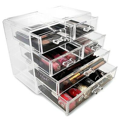 Sorbus Acrylic Drawer Makeup Organizer with Removable Drawers 2 Large and... New