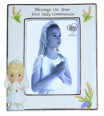 Precious Moments Blessings on Your First Holy Communion frame Girl Figurine New