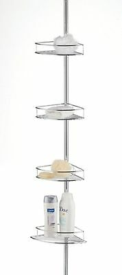 Taymor Corner Shower Basket Tower With Tension Pole Chrome New