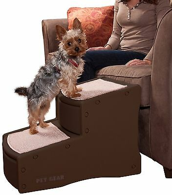 Pet Gear Easy Step 2-Step Pet Stairs for Cats and Dogs up to 150-Pound Ch... New