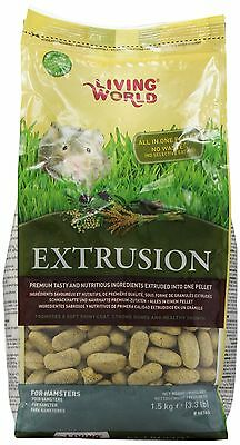 Living World Extrusion Hamster Food 3.3-Pound Pillow bag New