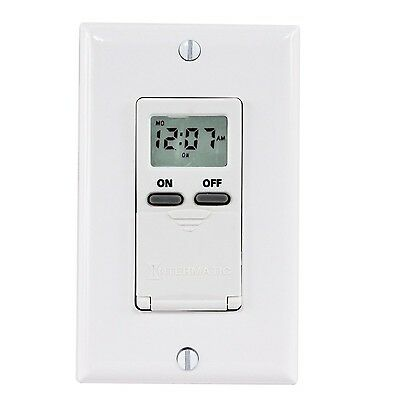 Intermatic IW505K 15-Amp Digital In-Wall Timer No Astro New