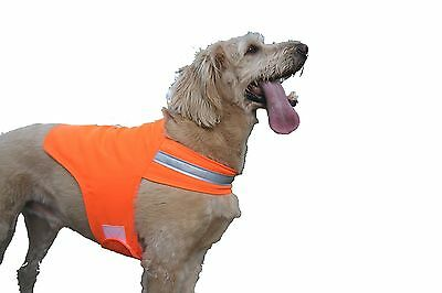 Dog Not Gone Visibility Products Safety Dog Vest Size 38 Hunter Orange New