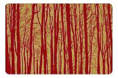 Cork Nature  3mm Set of 2 Korko 490401 Magic Forest Red Placemat New