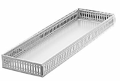 Taymor Vanity Tray Chrome Large Silver New