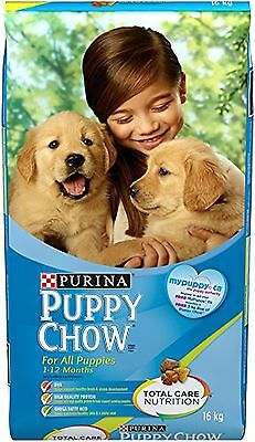 Purina Puppy Chow Puppy Food For All Puppies 16kg New