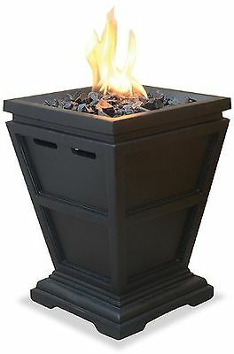 Uniflame Lp Gas Outdoor Table Top Fireplace New