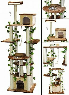 Go Pet Club 85-Inch Cat Tree Condo Scratching Post Furniture Beige/Brown New