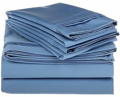 Egyptian Cotton 1000 Thread Count Oversized Olympic Queen Sheet Set Solid... New