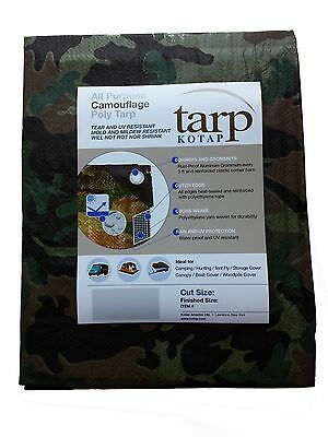 Kotap 8-ft x 10-ft Camouflage 7-mil Poly Tarp Item: TCM-0810 New
