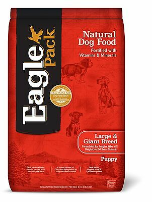 Eagle Pack Natural Dry Large Breed Puppy Food Lamb Chicken & Fish 30-Poun... New