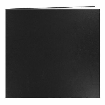 Pioneer Leatherette Postbound Album 12-Inch-by-12-Inch Black New
