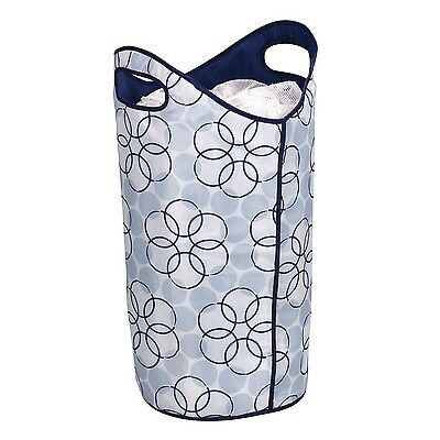 Household Essentials Soft Sided Hamper with Handles and Mesh Top Closure ... New