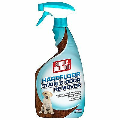 Simple Solution Hardfloors Stain and Odor Remover Spray Bottle 32-Ounce New