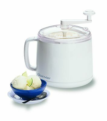 Cuisipro Donvier Manual Ice Cream Maker 1-Quart White New