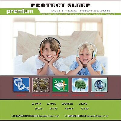 Continental Sleep Mattress or Box Spring Protector  Covers Bed Bug Proof/... New
