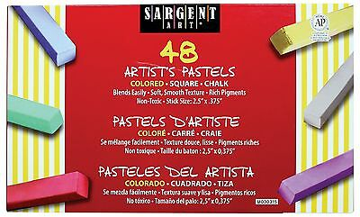 Sargent Art 22-4148 48 Count Colored Square Chalk Pastels New