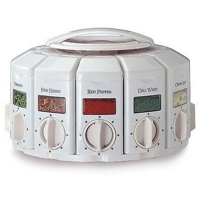 KitchenArt 25000 Auto Measure Spice Carousel without Spices White New