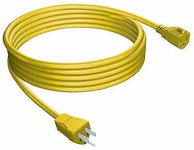 STANLEY 33257 Grounded Outdoor Extension Power Cord 25-Feet Yellow New